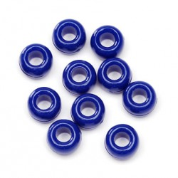 BEADS PONY BARREL    6X9mm BAGGED    720ct.  BLUE