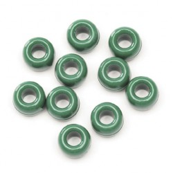 BEADS PONY BARREL    6X9mm BAGGED   720ct. GREEN
