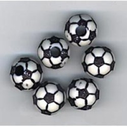 BEAD TEAM SPORTS 12mm 12ct SOCCER BALLS