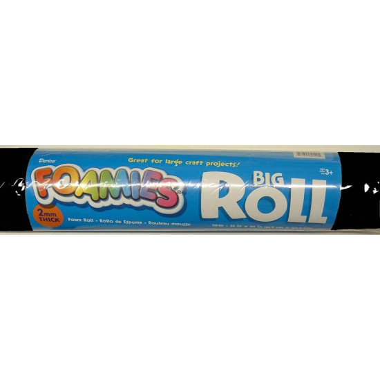 "FOAMIES ROLL 2MMTHICK 36""X60"" BLACK"