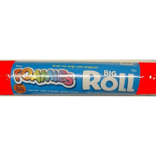 """FOAMIES ROLL 2MMTHICK 36""""X60"""" RED"""
