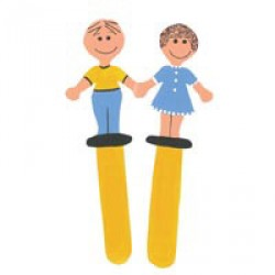 CRAFT STICKS WOOD SHAPED STICKS 18 ct PEOPLE SHAPED