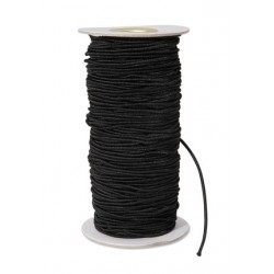 ELASTIC CORD 2mm. 72yds. BLACK