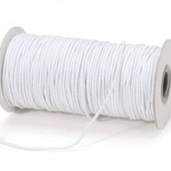 ELASTIC CORD 2mm. 72yds. WHITE