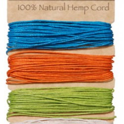 JEWELRY CORD HEMP 20LB X120 FT. BRIGHTS SET 4PK.