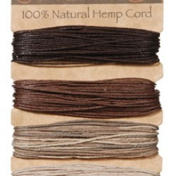 JEWELRY CORD HEMP 20LB X120 FT.  EARTHY SET 4PK.
