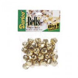 JINGLE BELLS GOLD 5/8 IN.  36 PC/PKG