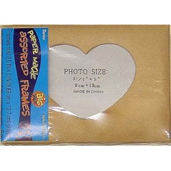 FRAMES PHOTO PAPIER MACHE 5X7 8pack ASSORTED STYLES