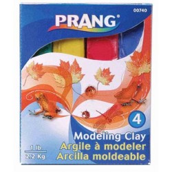 CLAY PRANG MODELING 1 LB   4 COLOR