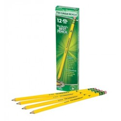 PENCIL #2 DIXON TICONDEROGA YELLOW PRESHARP 12 ct