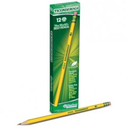 PENCIL #2 DIXON TICONDEROGA  PREMIUM YELLOW 12ct