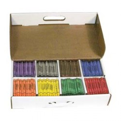 CRAYONS PRANG CLASSPACK LARGE SIZE 8 COLOR 400ct