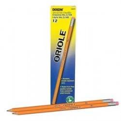 PENCIL #2 DIXON ORIOLE YELLOW       PRESHARPENED