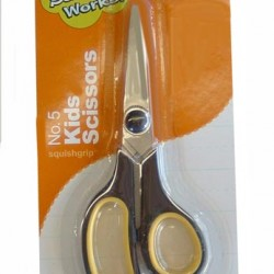 SCISSORS SCHOOLWORKS SQUISHGRIP POINT   5""