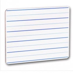 "DRY ERASE BOARD  9.5"" X 12"" RULED FROM FLIPSIDE"