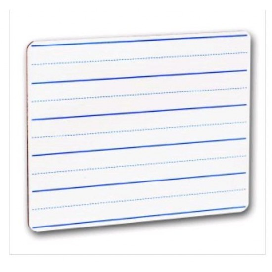 """DRY ERASE BOARD  9.5"""" X 12"""" RULED FROM FLIPSIDE"""