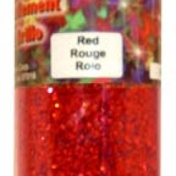 GLITTER IN PLASTIC JAR W/ SHAKER TOP 4 oz. RED