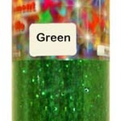 GLITTER IN PLASTIC JAR W/ SHAKER TOP 4 oz. GREEN