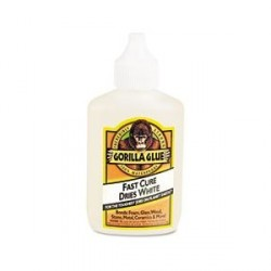 GLUE GORILLA  QUICK CURE DRIES WHITE  2 OZ