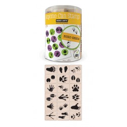 "RUBBER STAMP SET  ""INK'N'STAMP"" ANIMAL PRINTS 18ct+2INK PADS"