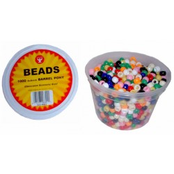 BEAD PONY BARREL          6X9mm IN CONVIENIENT TUB  1000ct.