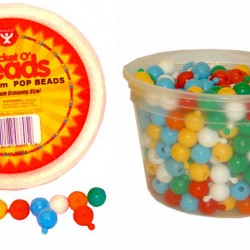 BEADS POP SNAP TOGETHER 12MM IN CONVIENIENT TUB  350CT.