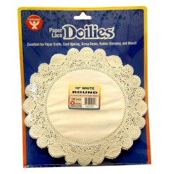 "DOILIES WHITE ROUND 10"" 100ct. Hygloss"
