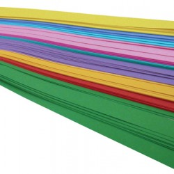 "WEAVING STRIPS ASSORTED BRIGHT COLORS 3/4"" X 16"" 100 COUNT"