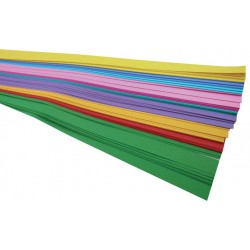 """WEAVING STRIPS ASSORTED BRIGHT COLORS 3/4"""" X 16"""" 100 COUNT"""
