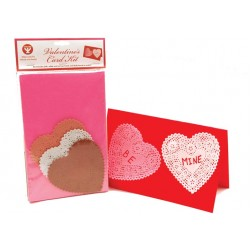 VALENTINE CARD KIT WITH CARDS AND DOILIES 36CT.