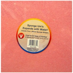 "SPONGE-UMS 8.5"" X 8.5"" SHEETS 2 COUNT COMPRESSED  CELLULOSE"