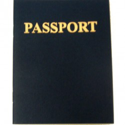 """PASSPORT BOOK 4 1/4"""" X 5 1/2"""" 24 PAGES"""