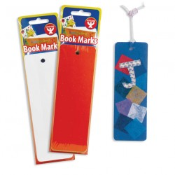 BOOKMARK BRIGHT MARKS 7 COLORS HOLE DRILLED 100 CT