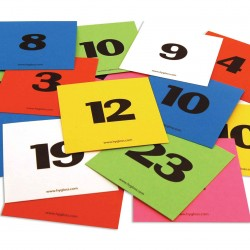 "CALENDAR CARDS 3""X3"" NUMBERED 1-31 + 5 BLANK CARDS"
