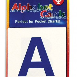 "POCKET CARDS 3""X3"" 60ct. UPPER/LOWER CASE ALPHABET LETTERS"