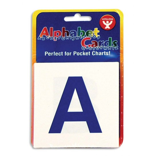 """ALPHABET CARDS 3""""X3"""" 60CT. UPPER/LOWER CASE LETTERS"""