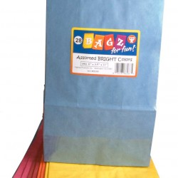 BAGS  COLORED   ASSORTED    #4    28ct.   ALSO  8118766288