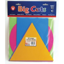 BRIGHT SHAPES GEOMETRIC  CUT OUTS 40 ct.