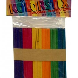 CRAFT STICKS WOOD KOLOR STICKS REGULAR COLORED 150 CT.