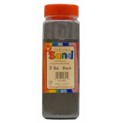 COLORED SAND 3 LB. HYGLOSS IN PLASTIC BOTTLE- BLACK