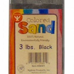 COLORED SAND 3 LB. HYGLOSS IN PLASTIC BOTTLE BLACK