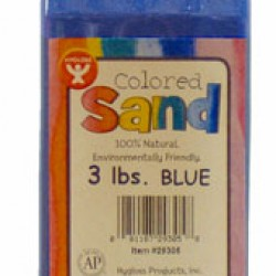 COLORED SAND 3 LB. HYGLOSS IN PLASTIC BOTTLE BLUE