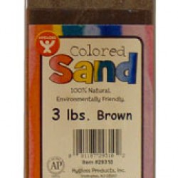 COLORED SAND 3 LB. HYGLOSS IN PLASTIC BOTTLE BROWN