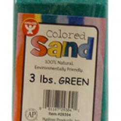 COLORED SAND 3 LB. HYGLOSS IN PLASTIC BOTTLE GREEN