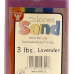 COLORED SAND 3 LB. HYGLOSS IN PLASTIC BOTTLE LAVENDER