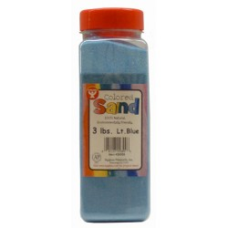 COLORED SAND 3 LB. HYGLOSS IN PLASTIC BOTTLE-LT. BLUE