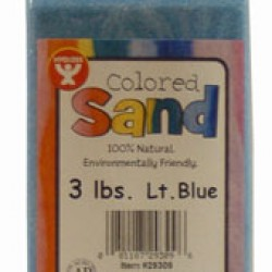 COLORED SAND 3 LB. HYGLOSS IN PLASTIC BOTTLE LT. BLUE