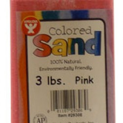 COLORED SAND 3 LB. HYGLOSS IN PLASTIC BOTTLE PINK