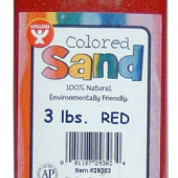 COLORED SAND 3 LB. HYGLOSS IN PLASTIC BOTTLE RED