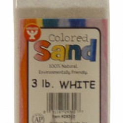 COLORED SAND 3 LB. HYGLOSS IN PLASTIC BOTTLE WHITE